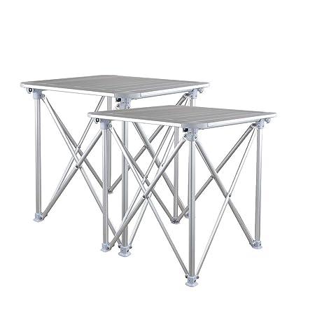 Yaunli Mesa Plegable al Aire Libre Juego de mesas Plegables con ...