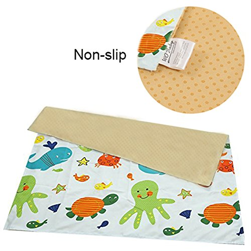Splat Mat for Under High Chair/Arts/Crafts, Wo Baby Reusable Waterproof Anti-slip Floor Splash Mat, Portable Play Mat and Table Cover (51'', Seaworld) by Wo Baby (Image #2)