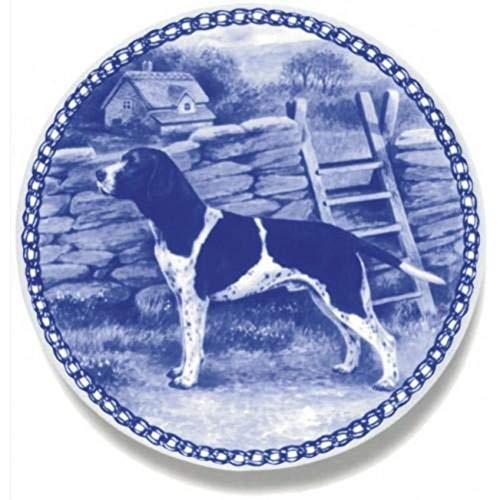 Old Danish Pointer - Dog Plate made in Denmark from the finest European Porcelain. Premium Quality and Design from Lekven. Perfect Gift For all Dog Lovers. Size - 7.61 inches.