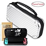 Nintendo Switch Hard Case,Switch case with 2 pack H9 Nintendo Switch screen protector,Switch Traval Carry Case, Suitcase Design and Flannel inside,Switch case Pouch for Nintendo Switch Console & Acces