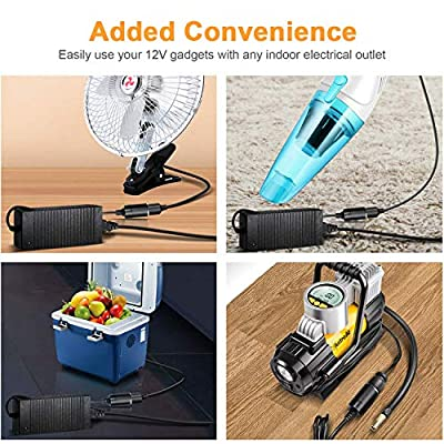 AstroAI AC to DC Converter, 10A/110Vto12V DC/120W/7.78FT, Car Cigarette Lighter Socket AC/DC Power Supply Adapter Transformer for Inflator, Car Refrigerator, and Other Car Devices: Automotive