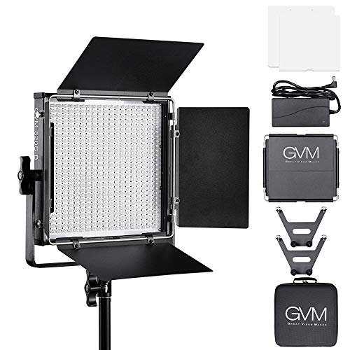 Gvm Led Video Light Kit Dimmable Bi Color With Digital