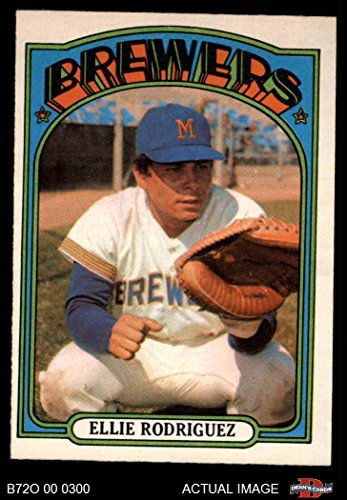 1972 O-Pee-Chee # 421 Ellie Rodriguez Milwaukee Brewers (Baseball Card) Dean's Cards 6 - EX/MT Brewers Ellie Rodriguez Brewers
