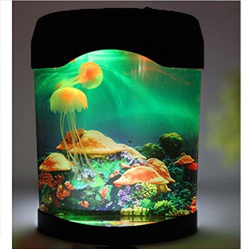 Multi Color Changing Light LED Artificial Jellyfish Aquarium Lighting Fish Tank Night Light Lamp by Mishiner