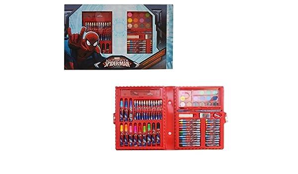 Maletín juego colores Spiderman Estuche con clip 80 unidades escolar Tiempo Libre Fair Shoponline: Amazon.es: Juguetes y juegos