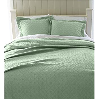 Awesome Plow U0026 Hearth Marie Matelasse Stonewashed Twin Coverlet, Hedge Green
