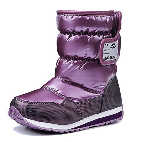 Price comparison product image ALLAK Kids' Vermont25 Cold Weather Snow Boot(Purple-EU 31/13 M US Little Kid)