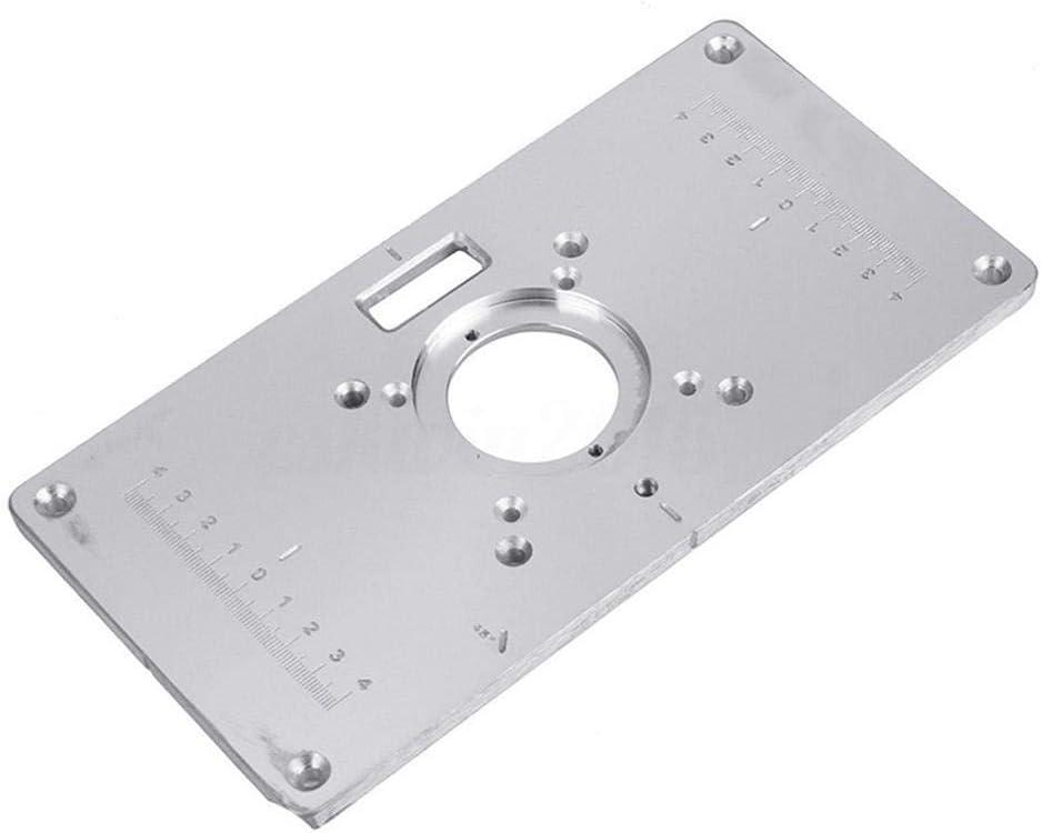 Aluminium Router Tabelle Insert Plate Router Tischeinsatzplatte f/ür Holzbearbeitungstische 235 120 8mm