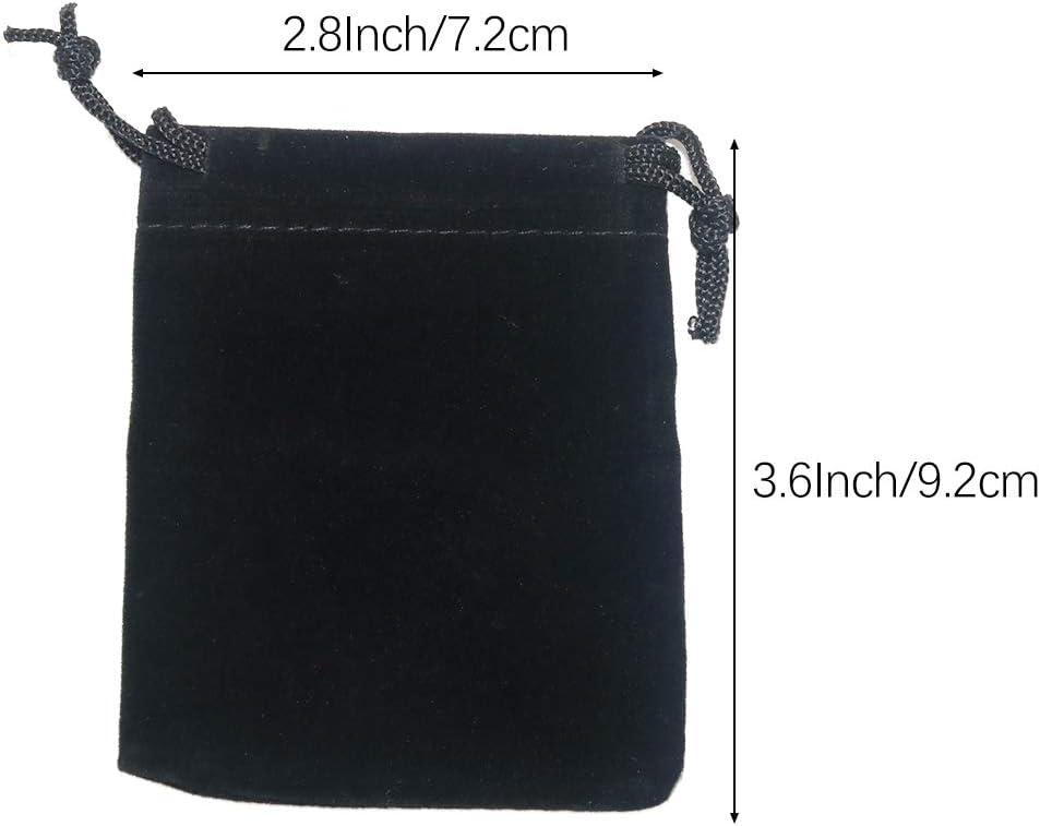 bolsa de chocolate HOMIXES 50 bolsas de terciopelo suave para joyer/ía con cord/ón para caramelos bolsa de regalo para fiestas y bodas