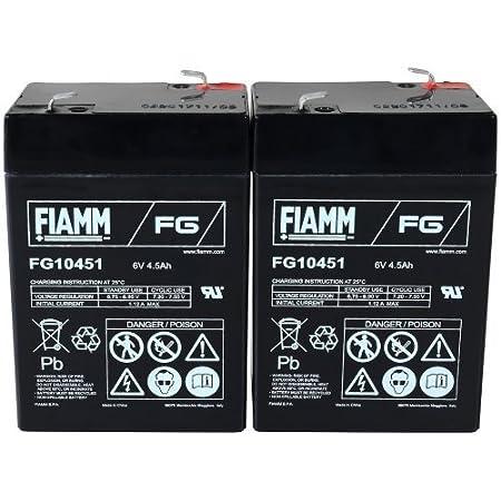 FIAMM Recambio de Batería para Vehículo Infantil: Moto Coche Quad 6V 4 5Ah