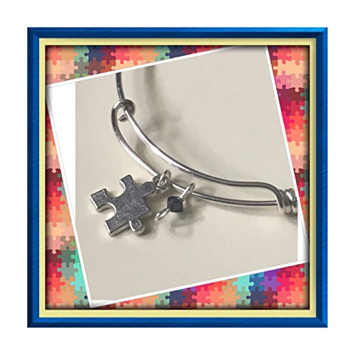 Autism awareness charm - Bracelet Dragonfly Crystal