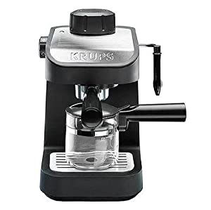 krups xp1020 steam espresso machine with glass. Black Bedroom Furniture Sets. Home Design Ideas