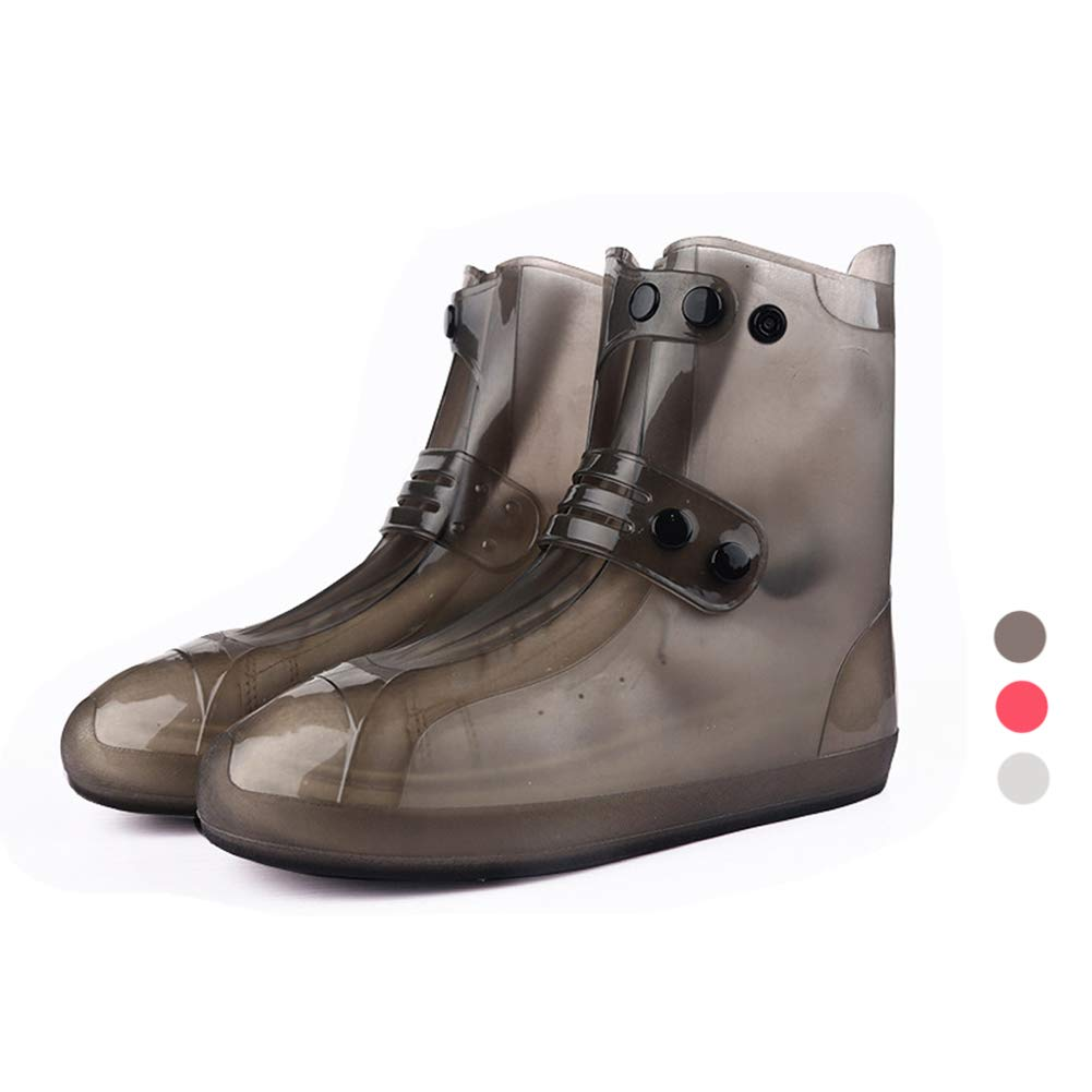Holyami Waterproof Black Rain Snow Shoe Boot Covers Reusable Washable Foldable Overshoes Outdoor Travel for Women Men Kids(Black L