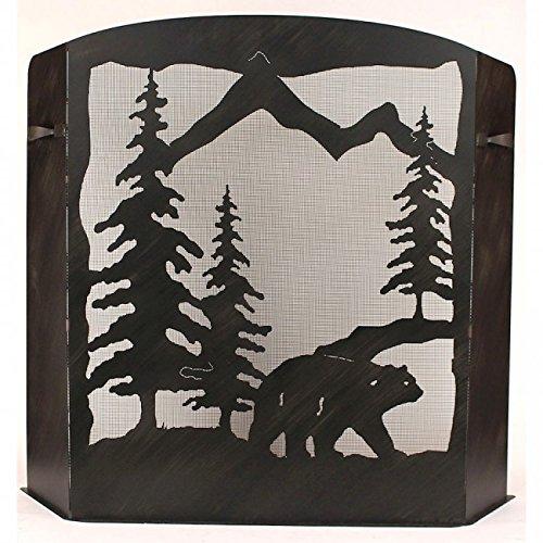 fireplace screen bear - 8