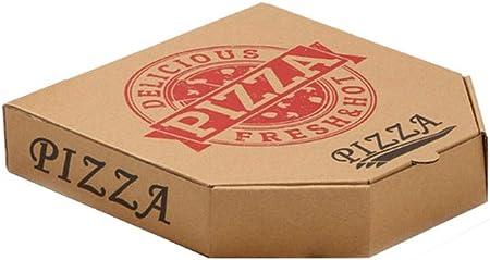 FGSJEJ Hexagonal Caja de Pizza, Pizza Corrugado Caja de empaquetado, for Llevar Caja de Embalaje, Caja de almacenaje for Alimentos Desechables, Papel Cake Box, 100pcs (Color : Brown2, Size : 11/12