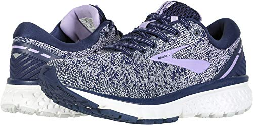 Brooks Women's Ghost 11 Navy/Grey/Purple Rose 9.5 B -