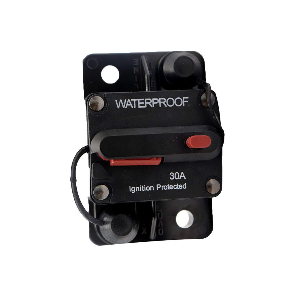 Schutzschalter,Leistungsschalter,DC 48 V Wasserdicht 25-300A Manuelle Reset Schaltung Stromschalter Auto SUV Marine Boot Meedot Network technology Ltd
