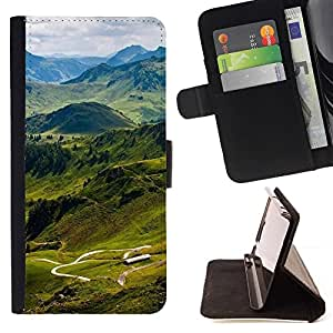 For Sony Xperia Z1 L39 Nature Beautiful Forrest Green 157 Beautiful Print Wallet Leather Case Cover With Credit Card Slots And Stand Function