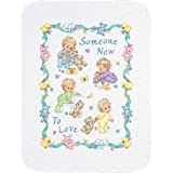 Dimensions Needlecrafts Stamped Cross Stitch, Someone New Baby Quilt