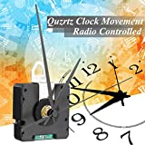 Cacys-Store - DIY Quartz Clock Movement Radio Controlled with Hour Minute Second Hand Replace Repair Parts Kit