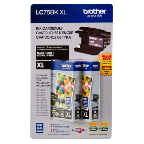 Brother LC-75BK High-Yield Ink - Black - 2 pk. (Ink Cartridges Brother Lc 75)
