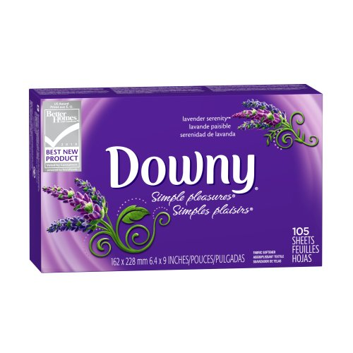 UPC 037000044369, Downy Simple Pleasures Lavender Serenity Fabric Softener Sheets 105 Count (Pack of 3)