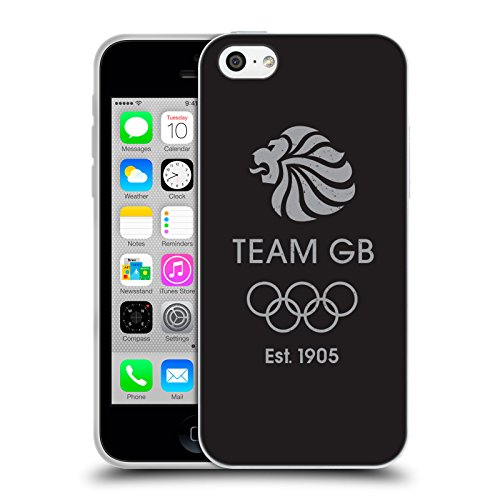Official Team GB British Olympic Association EST Grey Logo Soft Gel Case for Apple iPhone 5c