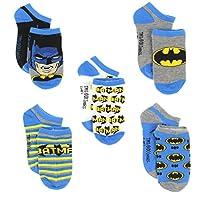 Batman Boys 5 pack Socks (4-6 (Shoe: 7-10), Batman Blue)