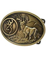 Buckle Rage Adult Unisex Buck Hunter Whitetail Deer Emblem Buckmark Belt Buckle
