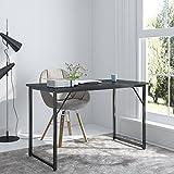 """Soges Computer Desk 47"""" PC Desk Office Desk Workstation for Home Office Use Writing Table, Black JJ-BCA-N"""