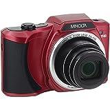 Minolta 20 Mega Pixels Wi-Fi Digital Camera with 22x Optical Zoom, 1080p HD Video & 3 LCD, Red (MN22Z-R)
