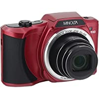 Minolta 20 Mega Pixels Wi-Fi Digital Camera with 22x Optical Zoom, 1080p HD Video & 3 LCD, Red (MN22Z-R)