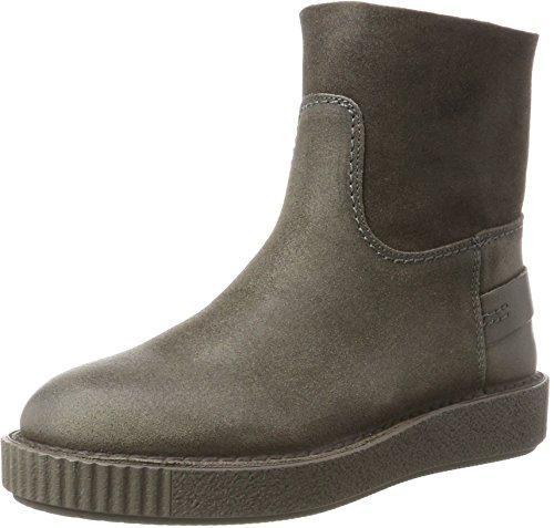 Shabbies WoMen Amsterdam Slouch Boots, Dark Brown Grey (Grey 3090)