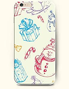 OOFIT iPhone 6 Case ( 4.7 Inches ) - Snowmen ang Gifts Stickers