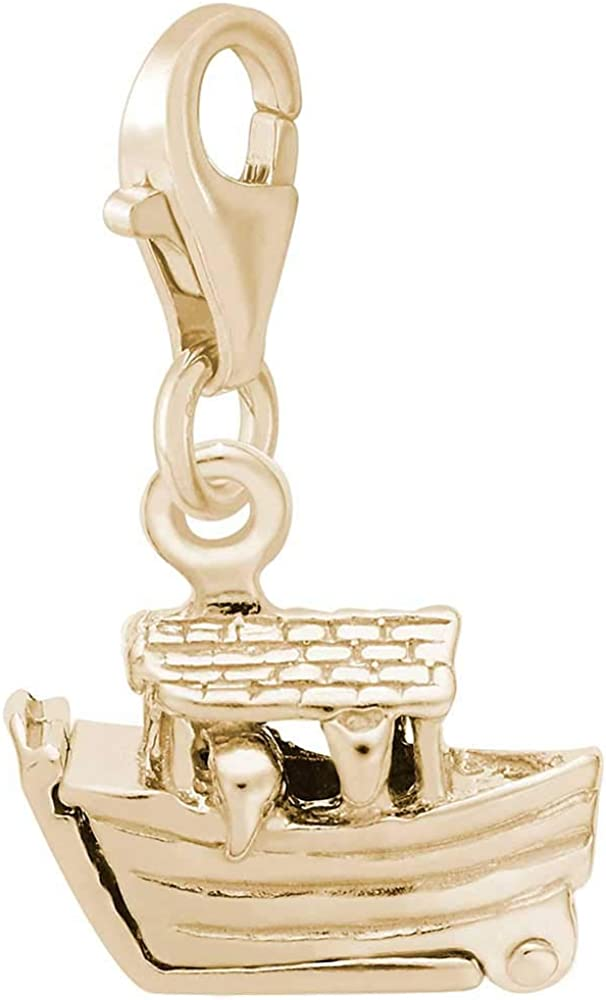 10K Yellow Gold Rembrandt Charms Gondola Charm with Lobster Clasp