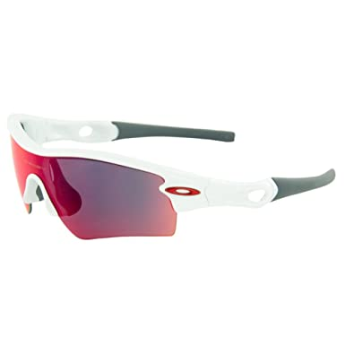 545857939f Oakley Men s Radar Path Polished White w  Red Iridium Sunglasses