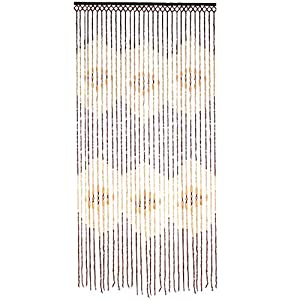 Jvl Tuscany Hanging Wooden Beaded Door Curtain Screen Eyes 90 X 180 Cm Kitchen