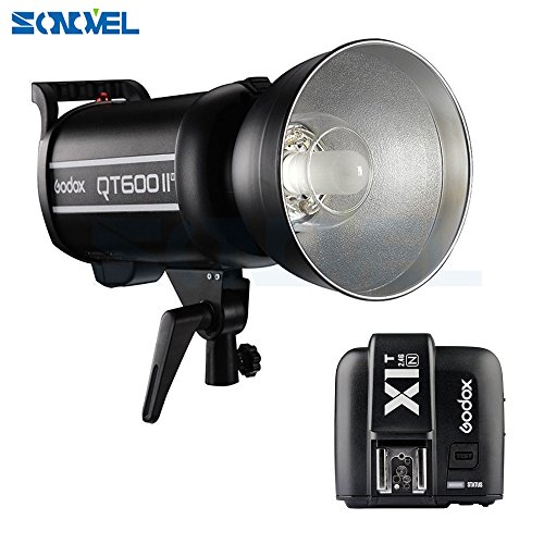 SONOVEL Godox QT-600IIM 600WS 110V 2.4G HSS 1/8000s High Speed Studio Strobe Flash Light GN76 HSS Built-in 2.4G Wirless X System Radio Reciver + X1T-N Transmitter For Nikon DSLR Camera by sonovel