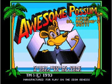 Taka Co 16 Bit Sega MD Game Awesome Possum With Box And Manual 16bit MD Game Card For Sega Mega Drive For Genesis