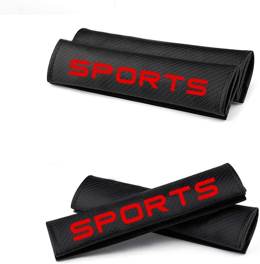changlaiwang Can be Customized for Honda CR-V Carbon Fiber Seat Belt Cover Seatbelt Shoulder Pads Protect Neck and Shoulder with Word Sports Red 2Pcs