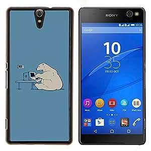 Stuss Case / Funda Carcasa protectora - Hacker oso polar divertido - Sony Xperia C5 Ultra