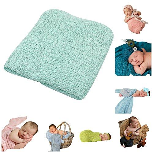 JLIKA Newborn Baby Photography Photo Prop Stretch Rayon Wrap (Aqua)