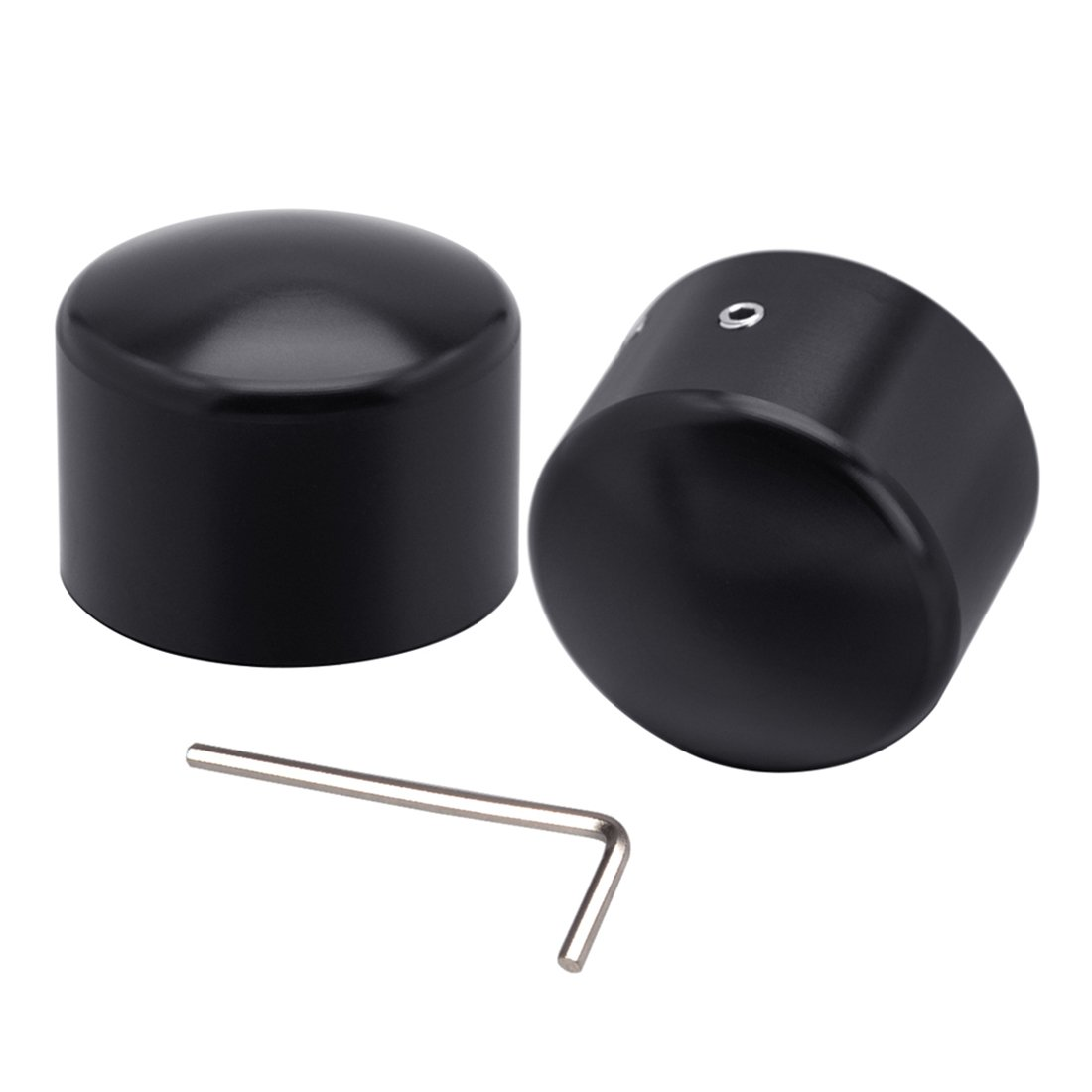Clipsone Black Front Axle Nut Cover Cap for Harley Sportster Touring Street Electra Road Glide Doitnow