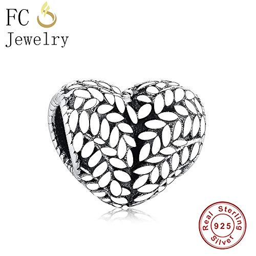 Pukido 2018 Autumn 925 Sterling Silver Grains/Icon of Nature Heart Shape Beads Fit Original Pandora Charms Bracelet Making Bijoux Jewel from Pukido