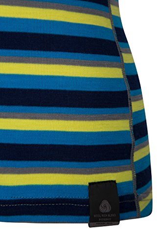 Mountain Warehouse Merino Kids Top- Breathable, Light Childrens Tshirt Blue 5-6 Years by Mountain Warehouse (Image #4)