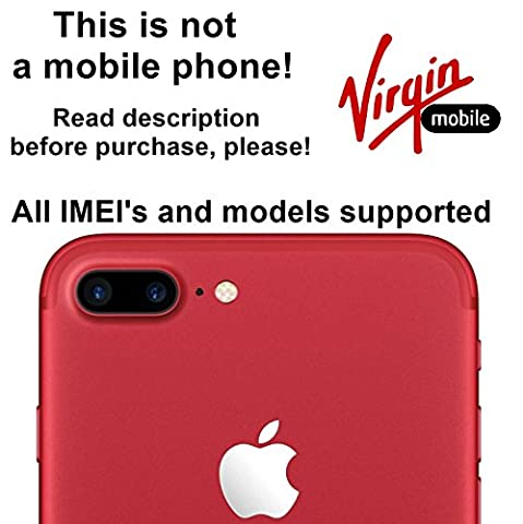 Virgin Mobile USA Unlocking Service for iPhone 7, 7 Plus, 6s, 6s Plus, 6, 6 Plus, SE, 5s, 5c, 5, 4s Models - Make Your Device More Useful Than Before - Choose Any Carrier at Your Own at Any Time You Need - No More Suffering with Locked Devices - Free Yourself and Enjoy Your Freedom Like Never (Gsm Unlocked Iphones S3)