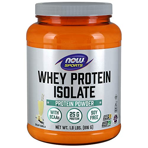 NOW Sports Nutrition, Whey Protein Isolate Powder, Creamy Vanilla, 1.8-Pound