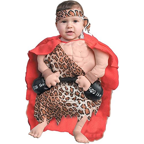 Mini Muscle Man Baby Bunting Costume