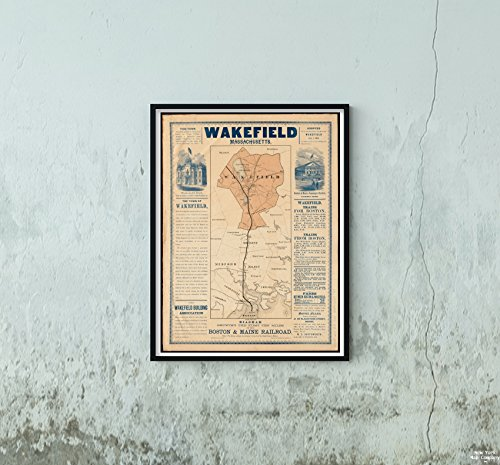 1870 Map Wakefield Wakefield, Massachusetts : Diagram, used for sale  Delivered anywhere in USA