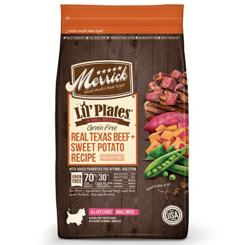 - Merrick Lil Plates Grain Free Small Breed Recipe, 4-Pound, Beef